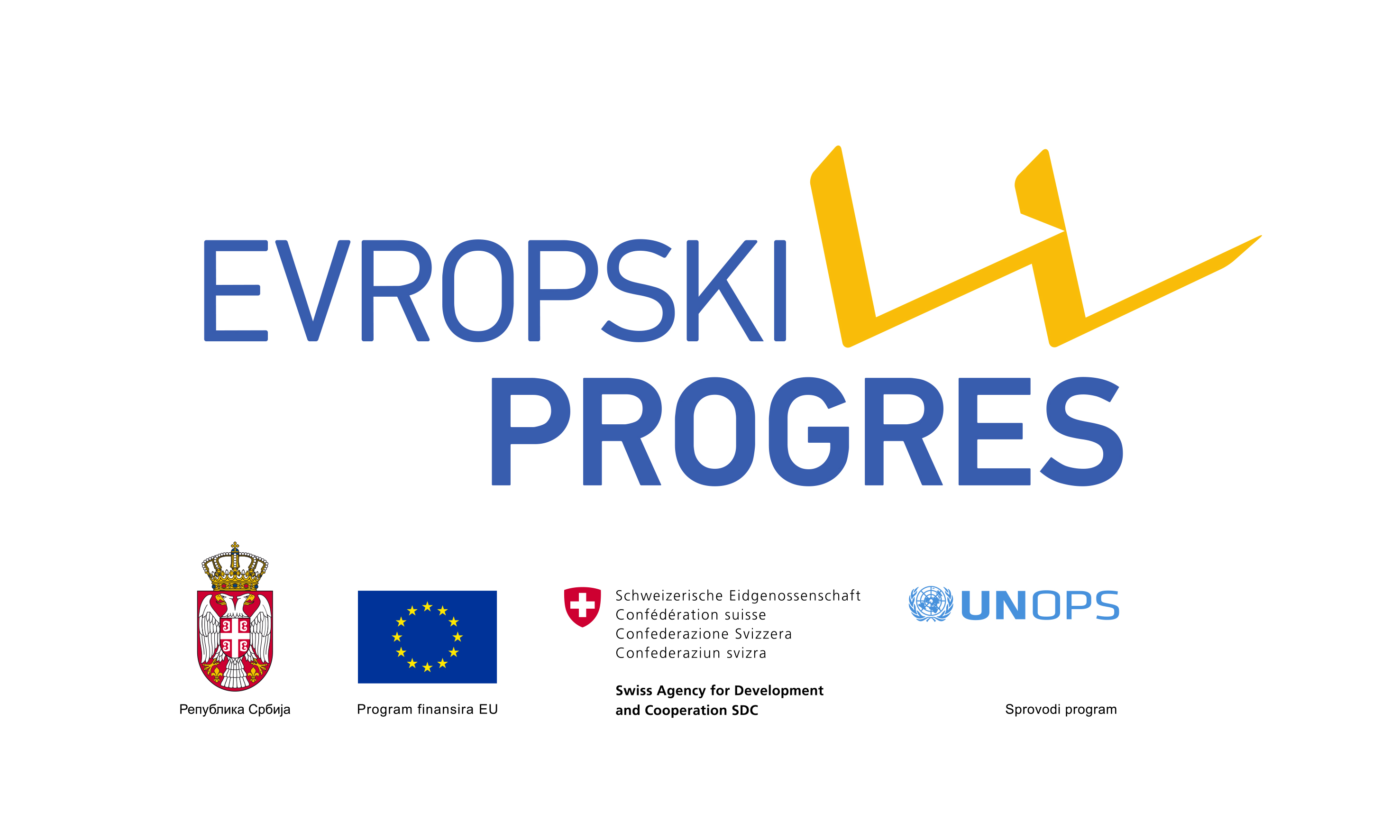 Block RGB European PROGRES logo SRB